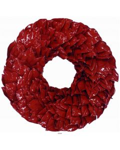 Red Wonderland Lacquer Christmas Wreath