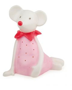 Resin White Mouse in Pink Dress Lamp for Kids