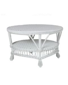 Round Wicker Coffee Table – Available in a Variety of Finishes