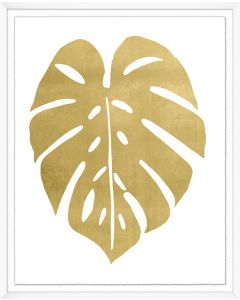 Rounded Gold Palm Leaf Framed Wall Art