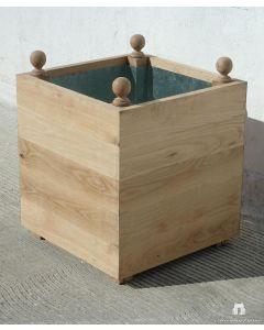 Rustic Outdoor Garden Planter in Wood with Finials – Available in a Variety of Sizes and Can be customized