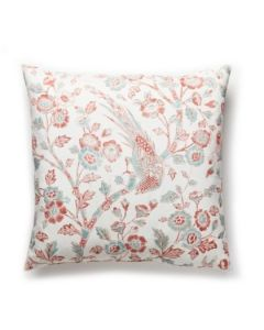 Scalamandre Anissa Coral Spice Print Pillow