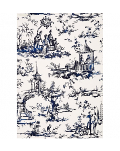 Scalamandre Summer Palace Wallcovering in Porcelain