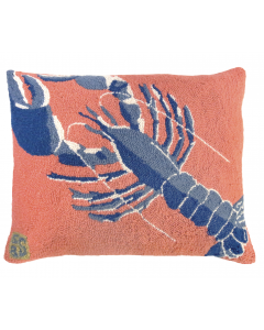 Blue Lobster Hooked Pillow