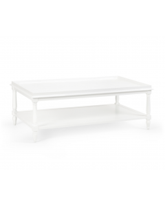 Wood Two Tier Retreat Cocktail Table - Available in a Variety of Colors