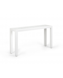 Wood Trellis Console Table With Glass Top - Available in a Variety of Colors