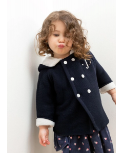 Cotton Seedstitch Double Breasted Jacket for Babies - Available in Three Different Colors Colors - Can Be Personalized