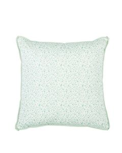 Speckled Splatter Throw Pillow with Flange in Seaglass Green
