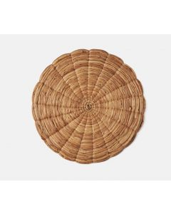 Set of 4 Hand Woven Water Hyacinth Round Placemats