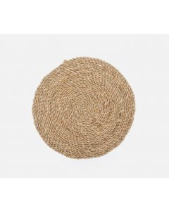 Set of 4 Round Natural Seagrass Placemats