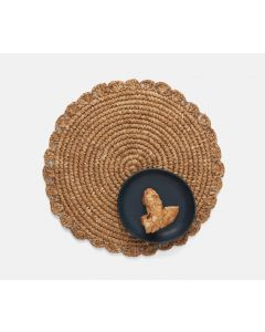 Set of 4 Round Sisal Placemats With Scalloped Edges