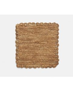 Set of 4 Square Sisal Placemats With Scalloped Edges