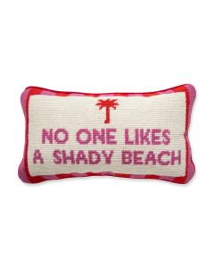 Shady Beach Quote Needlepoint Pillow- ON BACKORDER UNTIL OCTOBER 2021