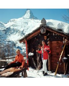 """Slim Aarons """"Chalet Costi"""" Print by Getty Images Gallery - Variety of Sizes Available"""