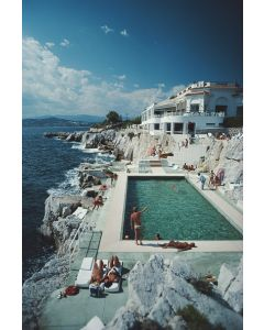 """Slim Aarons """"Eden-Roc Pool"""" Print by Getty Images Gallery - Variety of Sizes Available"""
