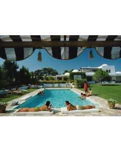 """Slim Aarons """"Poolside In Sotogrande"""" Print by Getty Images Gallery - Variety of Sizes Available"""
