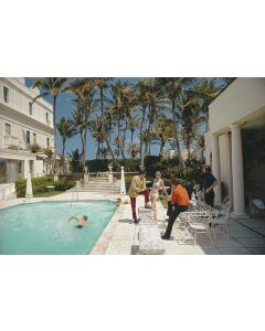 """Slim Aarons """"Posing By The Pool"""" Print by Getty Images Gallery - Variety of Sizes Available"""