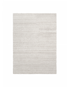 Small Ivory Tufted Wool Rug