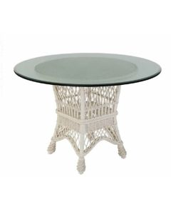 Small Wicker Dining Table Base – Available in a Variety of Finishes