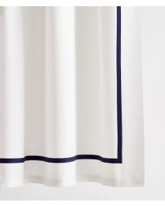 Avon Single Band Tape Trim Shower Curtain - Available in a Variety of Trim Colors and Sizes