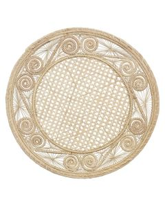 Spiral Pattern Round Wicker Placemats, Set of 4 - ON BACKORDER UNTIL LATE AUGUST 2021