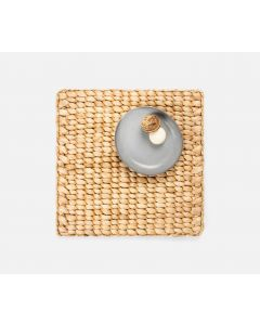 Set of 4 Square Woven Placemats in Natural