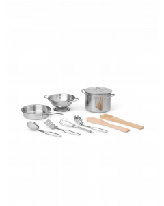 Stainless Steel 9 Piece Cookware Play Set For Kids