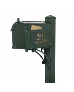 Classic Green Standing Mailbox Kit - Personalized