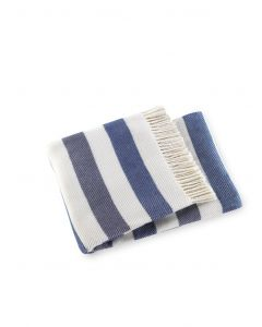 Sweet Stripes Plush Throw with Fringes - Variety of Colors Available - Can Be Personalized