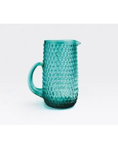 Teal Beaded Textured Pitcher