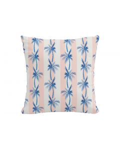 The Cabana Stripe Palms Pillow, Coral by Gray Malin, Available in a Variety of Sizes and Material