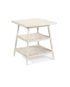 Three Tier Wicker End Table - Available in a Variety of Colors