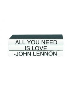 """""""All You Need Is Love"""" Three Volume John Lennon Quote Set of Decorative Books"""