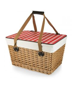 Traditional Flat Lid Picnic Basket - Available in 2 Colors - ON BACKORDER UNTIL AUGUST 2021