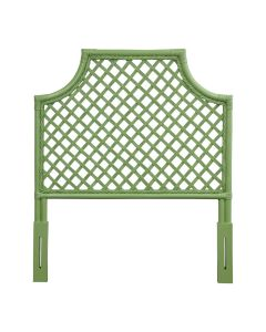 Trellis Rattan Twin Headboard, Available in a Variety of Colors - PREORDER JANUARY 2022