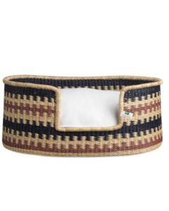 Tri-Color Cross Pattern Woven Basket with Cushion Dog Bed - Available in Three Sizes