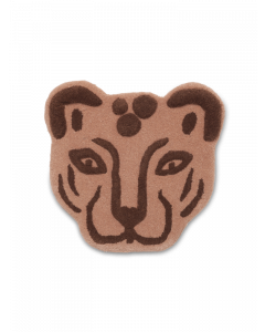 Tufted Leopard Head Decorative Rug For Kids