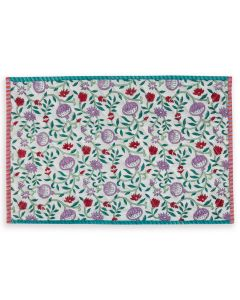 Turquoise and Purple Floral Loews Quilted Placemat