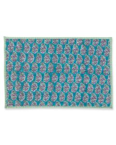 Turquoise and Purple Pandora Quilted Placemat
