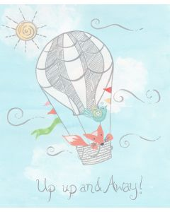 Up & Away Hot Air Balloon Wall Art for Babies and Kids