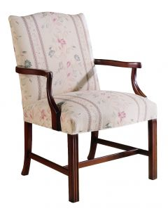 Upholstered Accent Chair in Brentwood Finish