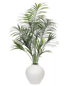UV Rated Outdoor Faux Palm Arrangement in Terracotta Pot