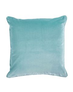 Velvet Decorative Throw Pillow in Breeze with Self Pipe