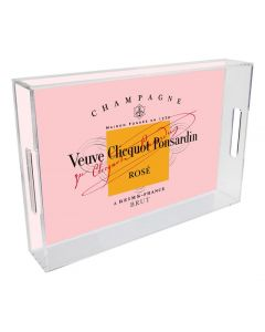 Veuve Clicquot Rose Lucite Tray, Available in Six Sizes