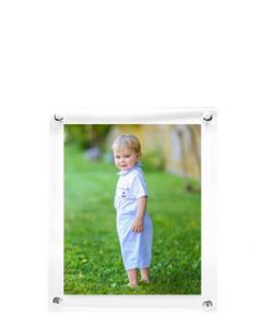 Wall Hanging Clear Acrylic Floater Picture Frame for 8x10 Photo