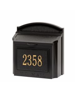Wall Mailbox Package - Black