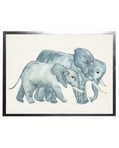 Watercolor Elephants Children's Wall Art With Size and Framing Options