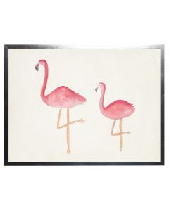 Watercolor Flamingos Children's Wall Art With Size and Framing Options