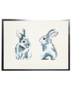 Watercolor Rabbits Children's Wall Art With Size and Framing Options