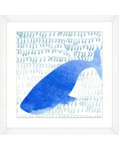 Watercolor Whale Silhouette and Pattern Child۪s Wall Art-Available in a Variety of Sizes